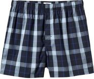Harry Anderson's Dark Blue Plaid Boxer Briefs