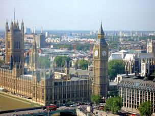 'Big Ben' and London skyline from the London Eye