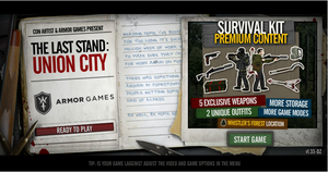 The Last Stand - Union City Start Screen