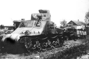 Russian M3 Lee tanks