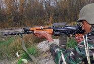 Indischer Soldat mit INSAS