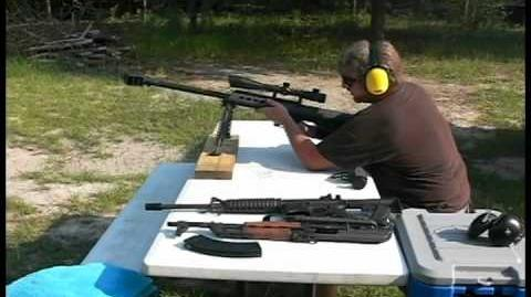 Barrett M95 model 95 50 cal shot from the bench & slow motion