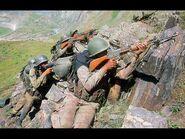 Indische Soldat mit INSAS