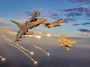 F-16 schießen Täuschkörper ab