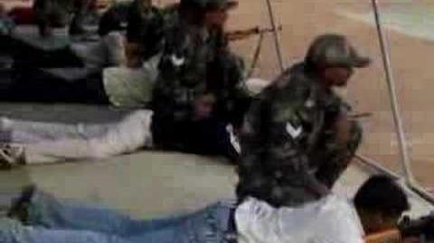 Vijay Daniel - Shooting INSAS rifle