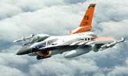 F-16 mit spezieller Lackierung