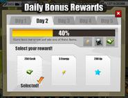 Daily bonus rewards