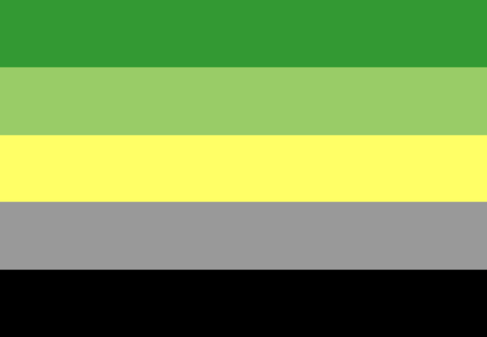 Significado de la bandera asexual plants