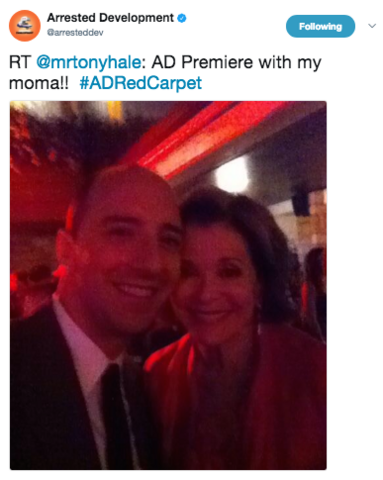 File:2013 Netflix S4 Premiere (Tony Hale) - Tony and Jessica 01.png