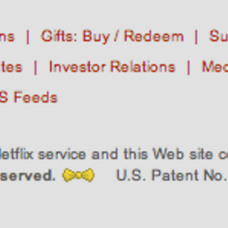 Yellow bow tie on the Netflix footer