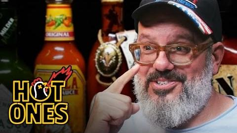 David Cross Embraces the Extremes of Spicy Wings Hot Ones