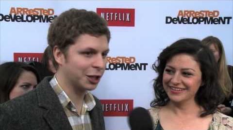 Arrested Development Season 4 Michael Cera and Alia Shawkat Premiere Interview
