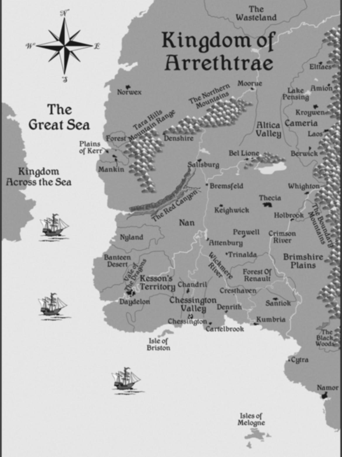 Map of Arrethtrae Chessington