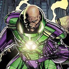 Lex avec son armure dans les comics