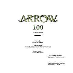 épisode 100 d'Arrow qui est aussi l'épisode Cross over