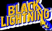 Black Lightning avec fond bleu