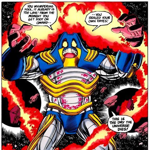 L'Anti-Monitor dans la version comics de Crisis on Infinte Earths.