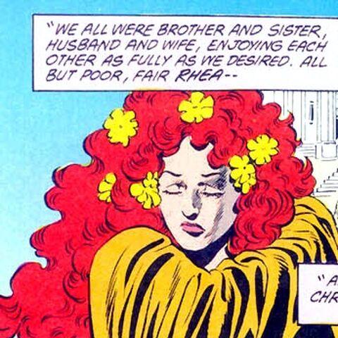 <b>Rhea</b> dans les comics