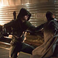Harkness affrontant Arrow.