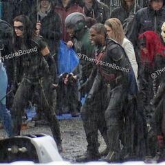 Les doublures cascades de Dreamer, Black Canary (Drake), Alex, Spartan, White Canary, Martian Manhunter, Batwoman et Wild Dog.