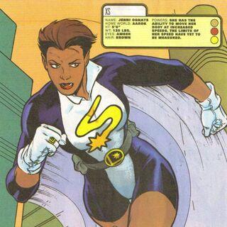 Jenni Ognats alias XS la petite fille de Barry et Iris dans les comics