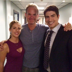 Sur le tournage de la saison 3 avec Glen Winter et Emily