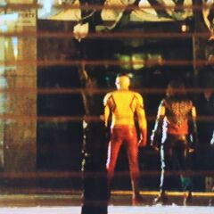 Music Meister, Kid Flash, Vibe et Martian Manhunter pour l'épisode cross over.