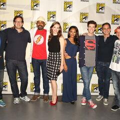 Avec l'équipe de Flash en 2014