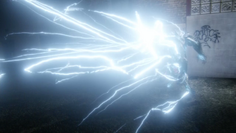 Savitar emitting white lightning