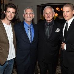 Aux Upfronts 2015 avec Mark, Victor et Wentworth Miller