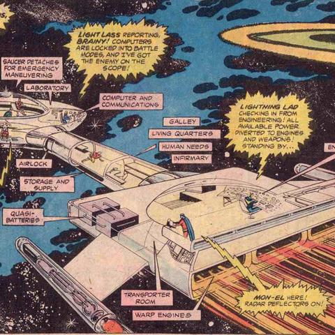 Croiseur de la Legion dans les comics.