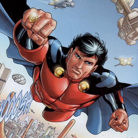 <b>Lar Gand</b> et Mon-El dans les comics.