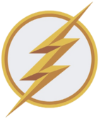 The Flash logo siège