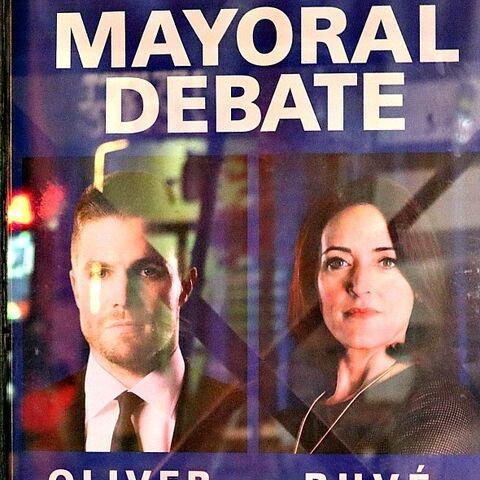 Affiche du débat pour la course à la Mairie (4.14)