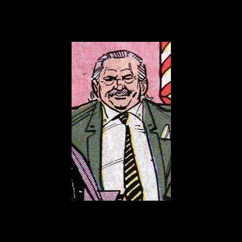 Le Sénateur Joe Cray dans les comics.