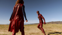 Supergirl and The Flash meet