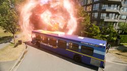 The bus being hit by dark matter