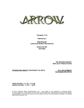 Arrow script title page - Betrayal