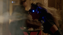Black Canary using her sonic scream to save lives