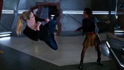 Charlie and Sara fighting