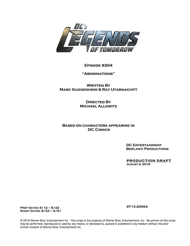 File:DC's Legends of Tomorrow script title page - Abominations.png