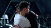 Nate hugs Ray goodbye