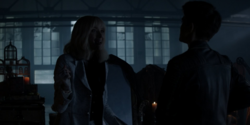 Kate confronts Beth in her lair