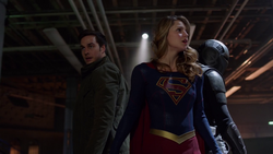 Mon-El, Supergirl and Guardian