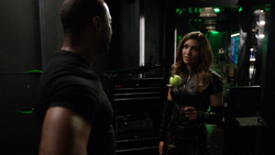 Dinah tells Diggle he can make the hard calls