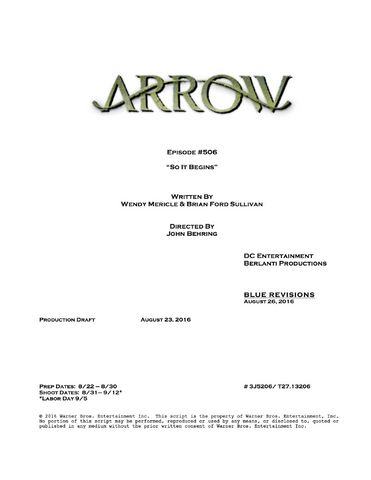 File:Arrow script title page - So It Begins.png