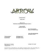 Arrow script title page - Vigilante