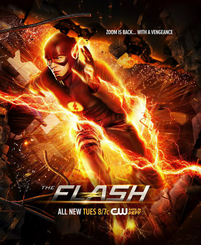 File:The Flash season 2 poster - Zoom is Back... With a Vengeance.png