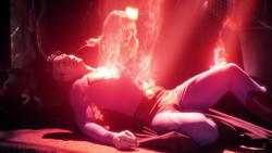 Corpo de Clark nas mãos de Kara