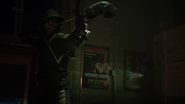 The Arrow aims a boxing glove arrow